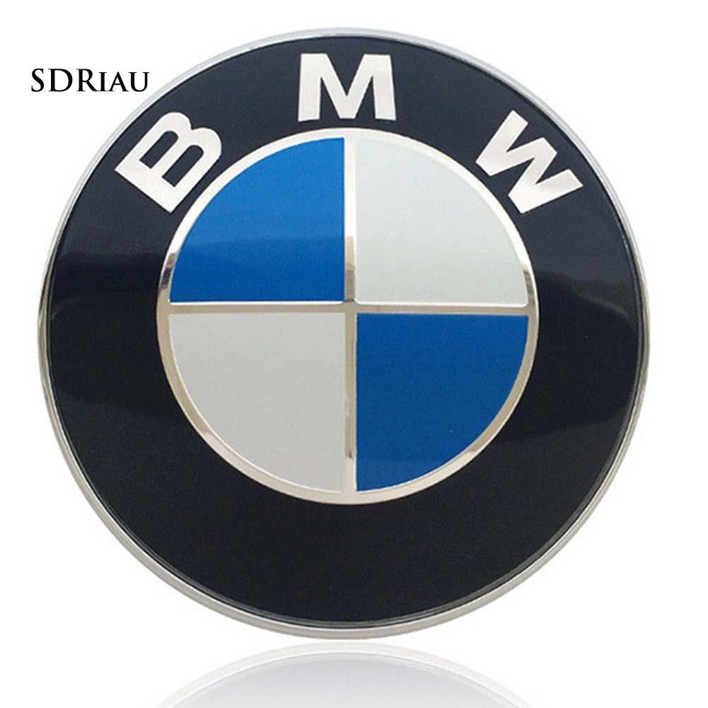 Logo mạ crom 82mm 2 đồ gài cho xe BMW