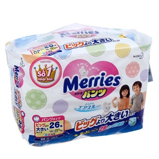 Bỉm quần Merries sz XXL