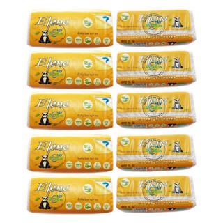 Lốc 10 gói Khăn Giấy Tre bỏ túi - Elène Tre 300 tờ (100 Tờ/Bịch x 3 lớp)