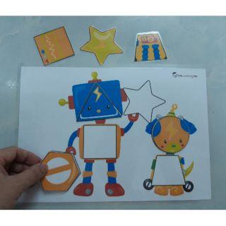 Nhận diện hình học cho bé -robot shape