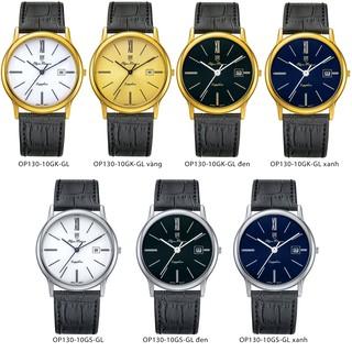 Đồng hồ đôi dây da mặt kính sapphire Olym Pianus OP130-10 thumbnail