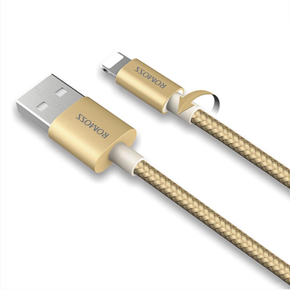 (CAMPAIGN) Cáp sạc iPhone/iPad Romoss Lightning Cable bọc Nylon dài 1m (Vàng) - Hãng phân phối chính - 2716973 , 1335598282 , 322_1335598282 , 169000 , CAMPAIGN-Cap-sac-iPhone-iPad-Romoss-Lightning-Cable-boc-Nylon-dai-1m-Vang-Hang-phan-phoi-chinh-322_1335598282 , shopee.vn , (CAMPAIGN) Cáp sạc iPhone/iPad Romoss Lightning Cable bọc Nylon dài 1m (Vàng)