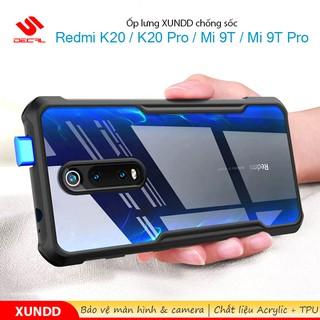 Ốp lưng XUNDD Redmi K20 / K20 Pro / Mi 9T / Mi 9T Pro, Mặt lưng trong suốt, Viền TPU, Chống sốc
