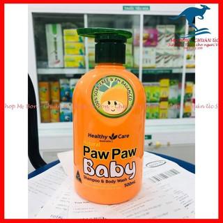 Sữa tắm gội Healthy Care All Natural Paw Paw Baby 500ml của Úc thumbnail