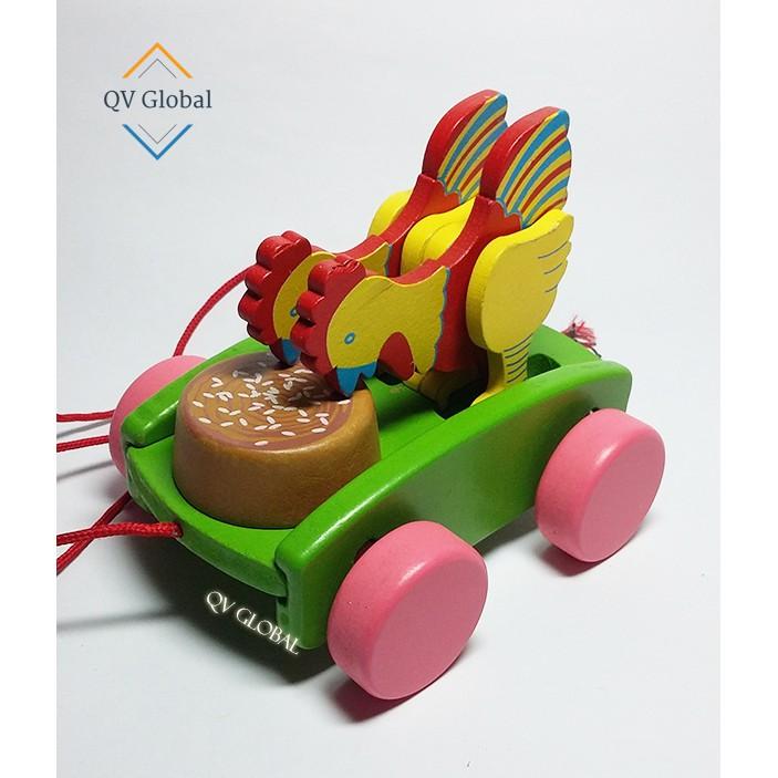 Xe kéo gỗ - Gà ăn thóc - Trò chơi vận động trẻ em