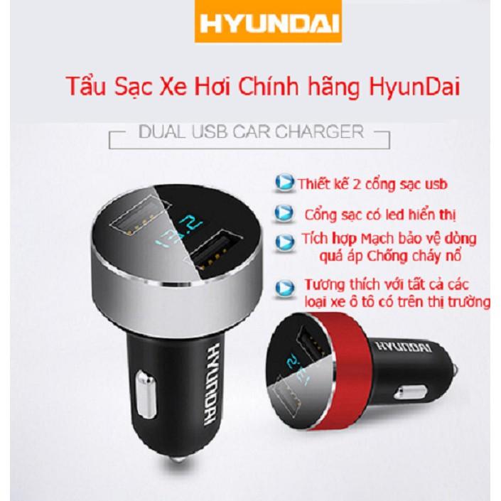 Tẩu sạc oto, xe hơi USB HYUNDAI có đồng hồ LED model 2018 - 2667666 , 1052071789 , 322_1052071789 , 120000 , Tau-sac-oto-xe-hoi-USB-HYUNDAI-co-dong-ho-LED-model-2018-322_1052071789 , shopee.vn , Tẩu sạc oto, xe hơi USB HYUNDAI có đồng hồ LED model 2018
