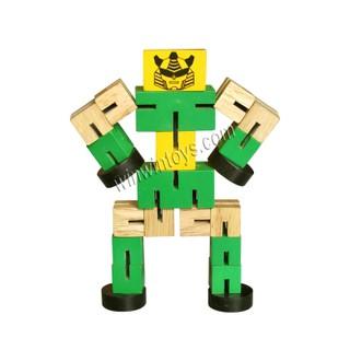 Đồ chơi gỗ – Luồn thun Robo Winwintoys