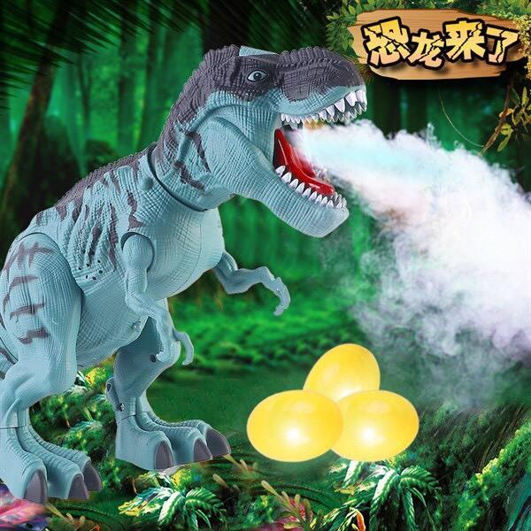 Đồ Chơi Khủng Long Phun Sương Đẻ Trứng Có Đèn Cho Bé {Khủng Long T-Rex}