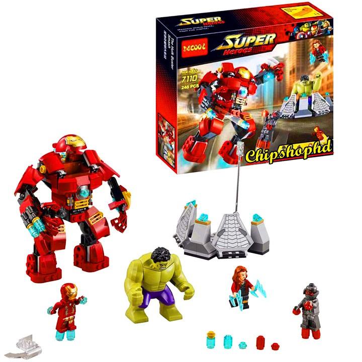 Bộ Lego Xếp Hình Ninjago Marvel Super Heroes 7110. Gồm 248 Chi Tiết. Lego Ninjago Lắp Ráp Đồ Chơi Cho Bé