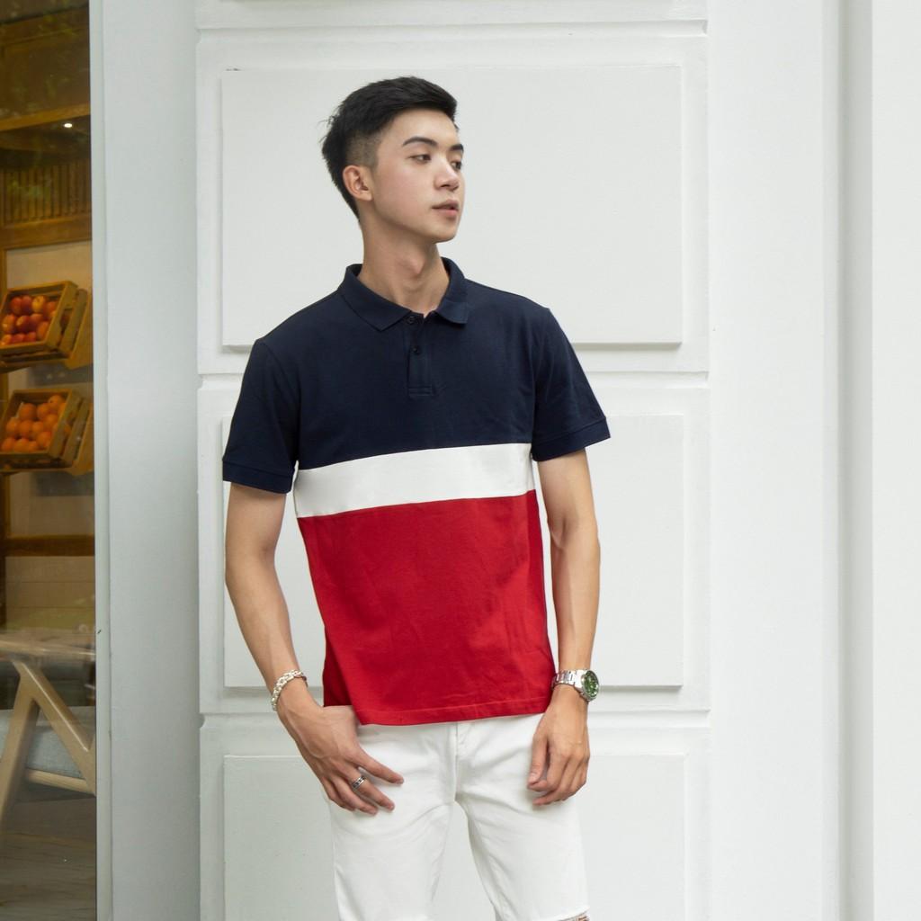 Áo polo nam SAYME áo thun có cổ phối màu vải lacoste mềm mịn co giãn 4 chiều MCPO0006