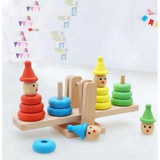 Trò chơi gỗ thăng bằng hình chú hề_SocNhi