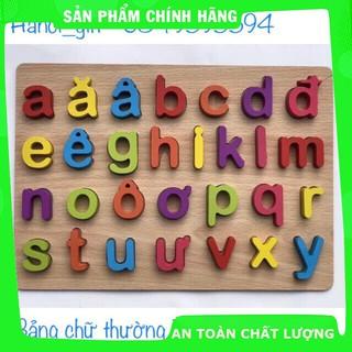 [Hỗ trợ giá] Bảng chữ gỗ nổi – chữ cái in thường Tiếng Việt_Hàng cao cấp