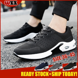 Ready Stock WZZ Lovers Running Shoes Air Sneakers Air Max Fly knit Men/Women Sport Shoes Outdoor breathable casual shoes