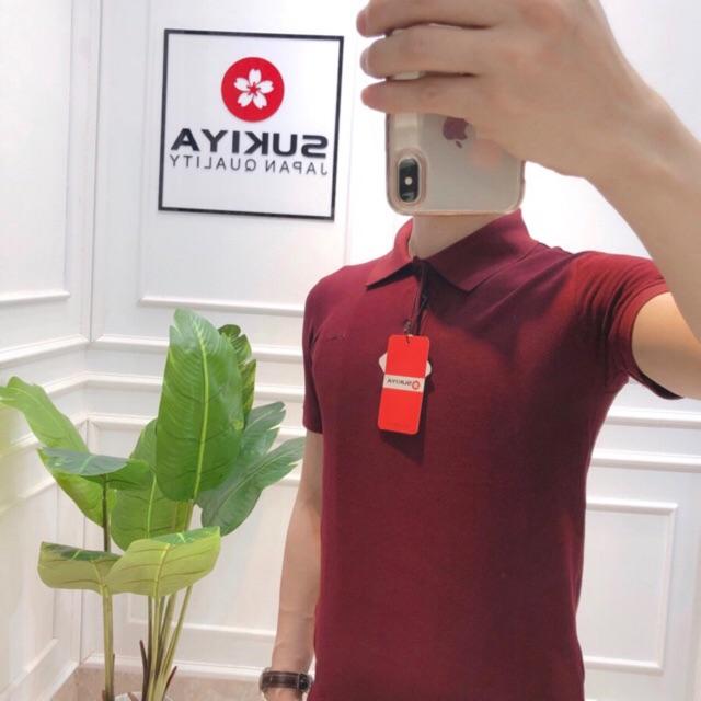 áo polo cộc nam hãng chính hãng sukiya chất 100% cotton