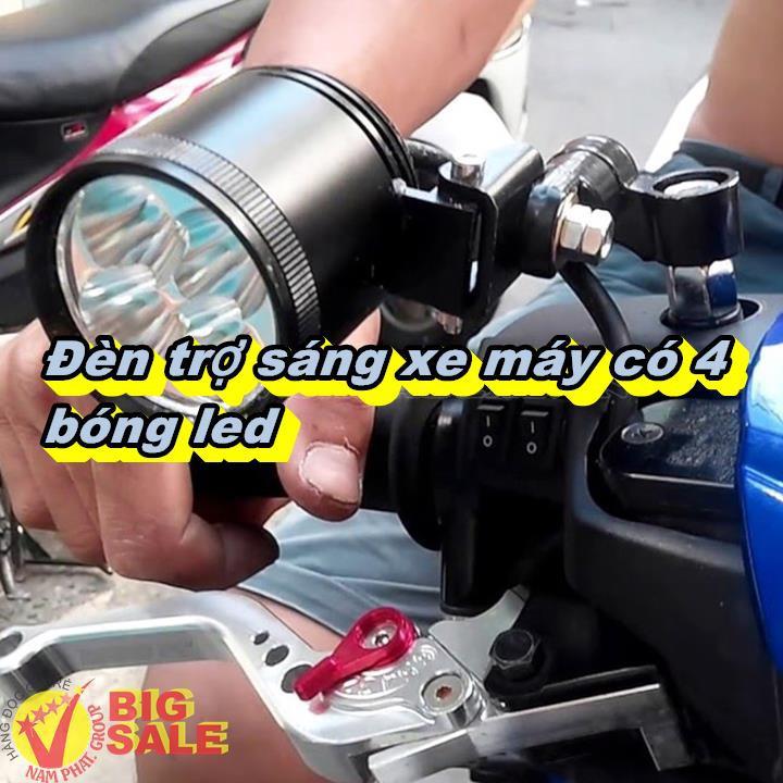 [SALE ĐỘC RẺ] Đèn trợ sáng xe máy có 4 bóng led [NANI]