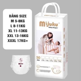 Tã Bỉm Mijuku FREESHIP dán quần nội địa đủ size S50 M50 L50 XL50 XXL50 XXXL50 thumbnail