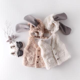 Set áo khoác và mũ trùm đầu thiết kế dễ thương cho trẻ sơ sinh