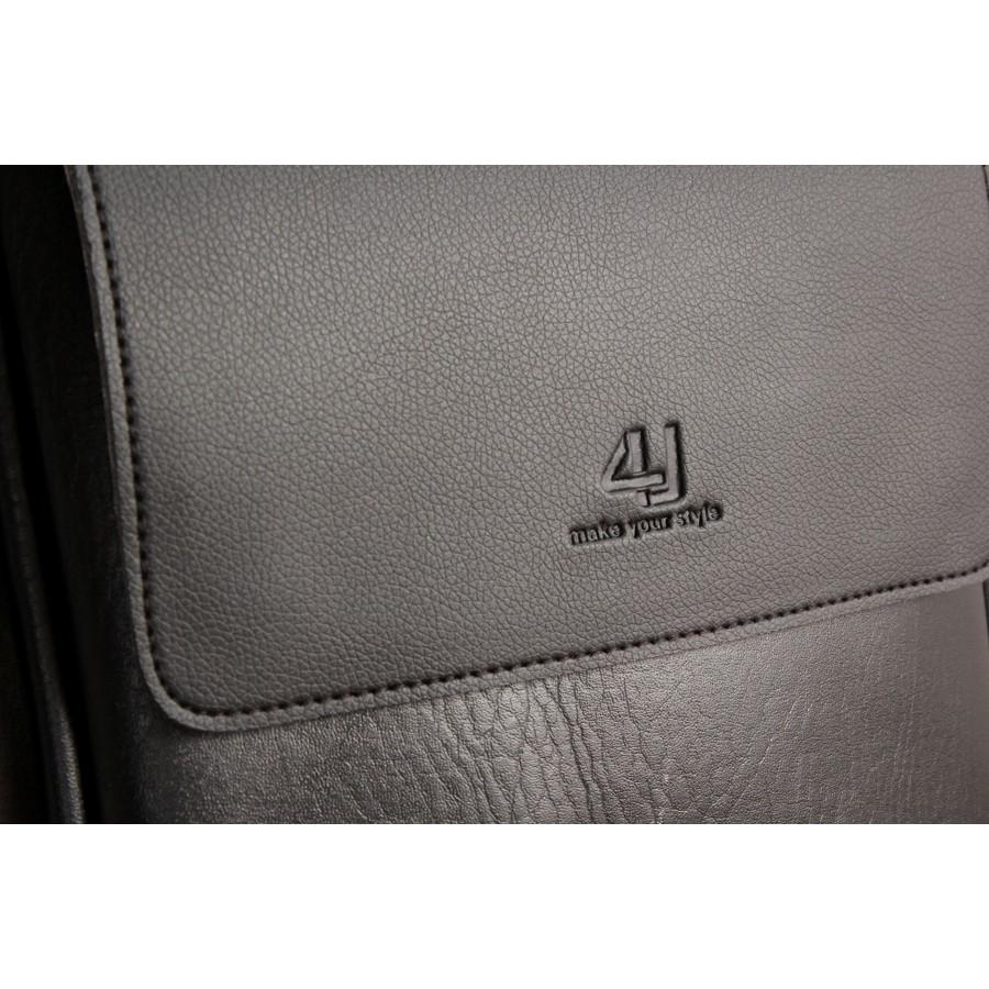 Túi Đeo Chéo Nam Thời Trang Cao Cấp D267 (đen -nâu) - [XẢ HÀNG]