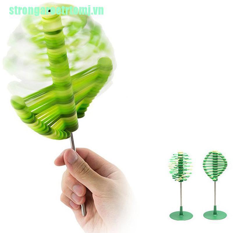 【stj】Autism Stim Sensory Stress Reliever Twirl Spinning Kinetic Funny Fidget T
