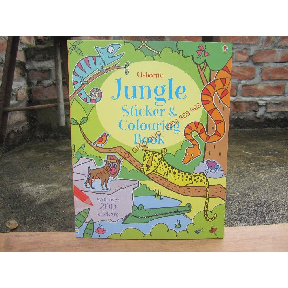 Jungle Sticker & Colouring book - Usborne