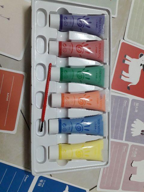 Màu tay cho bé 6 màu