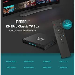Mecool KM9 PRO CLASSIC, Android TV 10 chính chủ Google – 2GB RAM, 16GB Bộ nhớ trong, có điều khiển giọng nói kèm theo