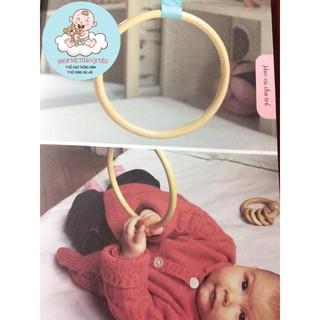 [Combo giáo cụ montessori] Vòng gỗ luyện kĩ năng cầm nắm cho bé 0-6m