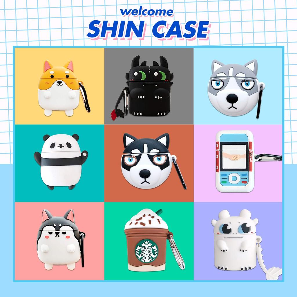 Vỏ bảo vệ bao đựng tai nghe case airpods 1, 2 chống va đập - Shin Case