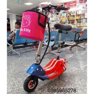 Xe đạp điện Ecooter giá rẻ màu đỏ cờ