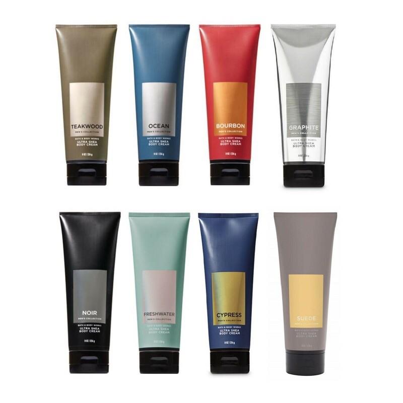 [Auth-Nhiều mùi] Kem Dưỡng Thể Mịn Da Lưu Hương Toàn Thân Cho Nam Bath & Body Works Men's Collection Body Cream (226g)