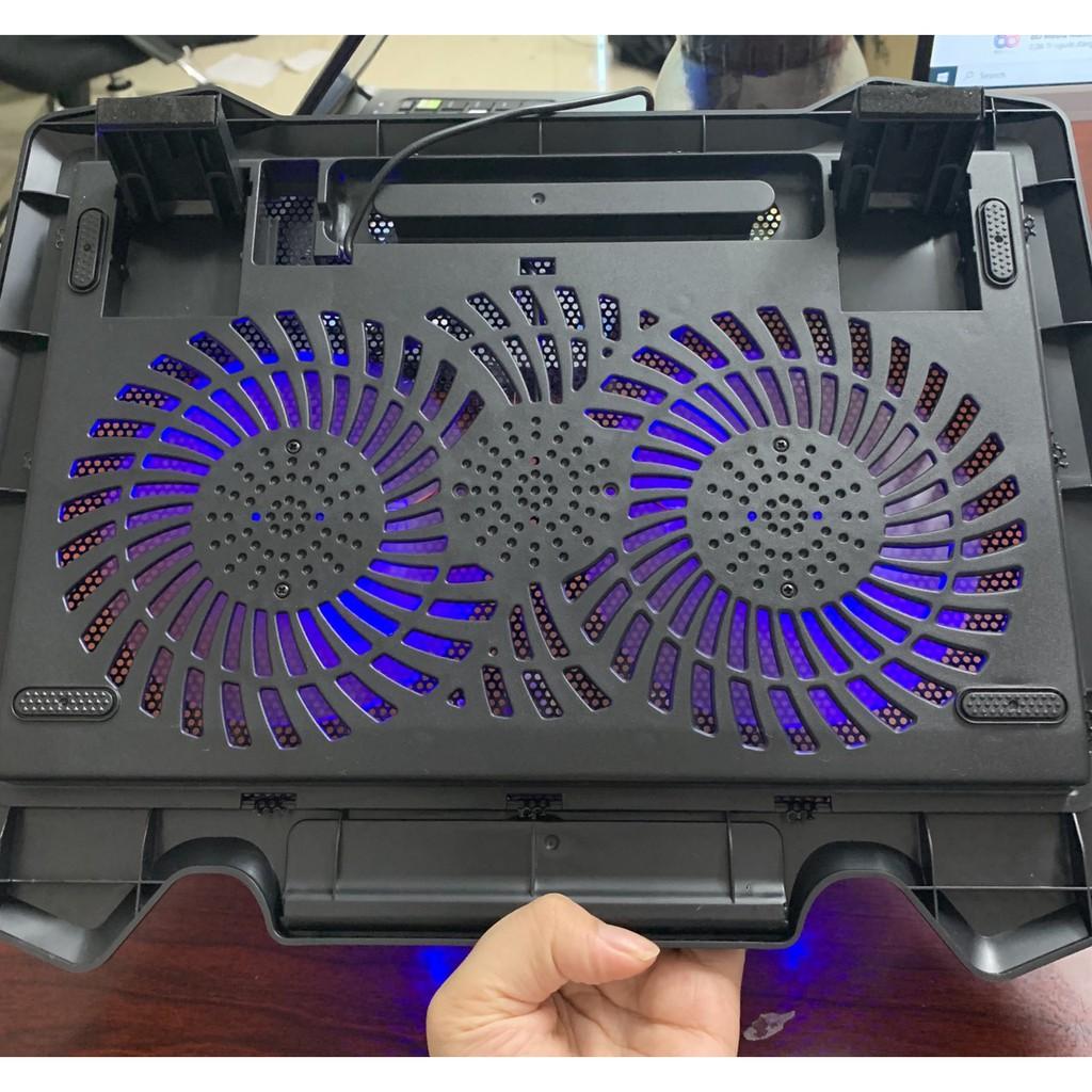 Đế Tản Nhiệt Quạt Tản Nhiệt Laptop Cooler S200 Pad 2 Quạt Lớn, Đèn Led, Đế Nâng 17 Inch Trở...
