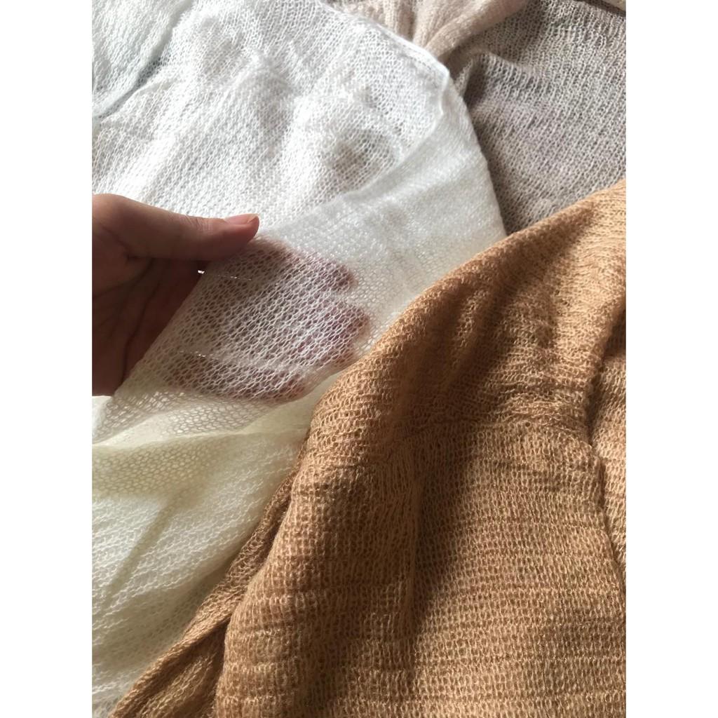 Áo Cardigan Len Mỏng Cho Nữ Phong Cách Ulzzang Phù Hợp Đi Đà Lạt, Dạo Biển, Labibi