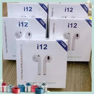 Tai Nghe Bluetooth Không Dây Nhét Tai I12 Kiêm Pin Sạc Dự Phòng HAI_SHOP01