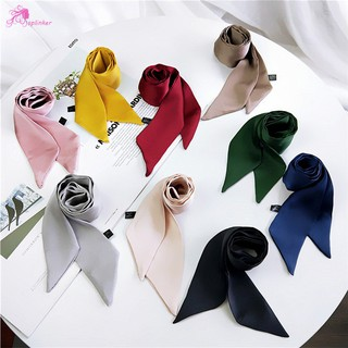 SL Women Ribbon Silk Scarf Handle Tie Bag Belt Strap Handbag Accessories Girls Neckerchief Hair Band