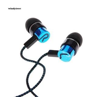 Tai nghe nhét tai wdte _ 3.5mm âm thanh stereo có dây bện cho Iphone , Samsung