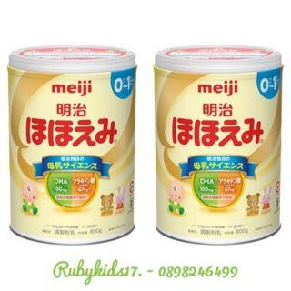 [Mã MKBCS01 hoàn 8% xu đơn 250K] Sữa bột Meiji 0 - 1 nội địa Nhật 800gr thumbnail