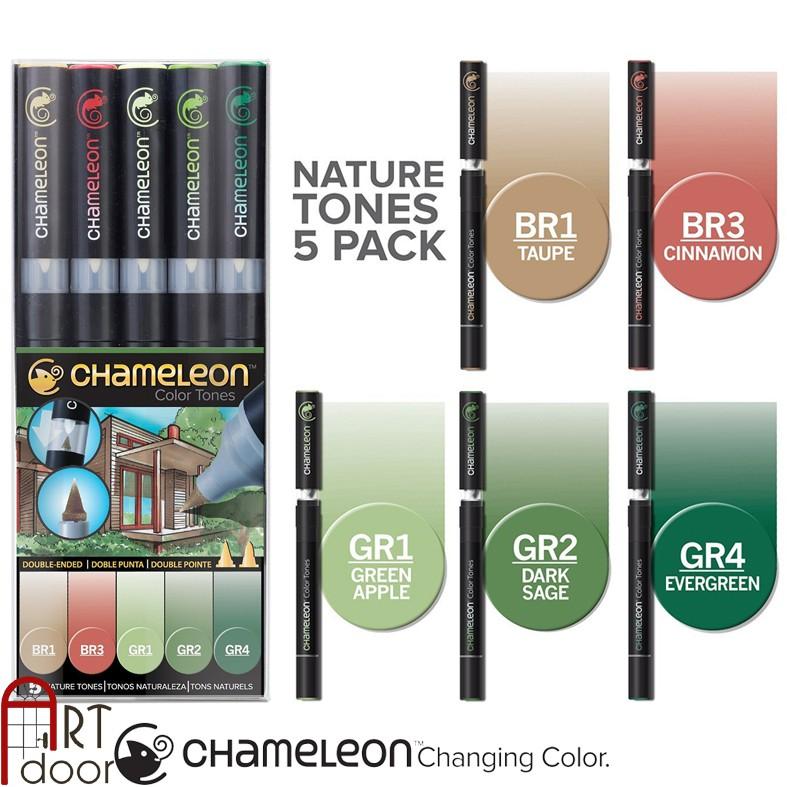 [ARTDOOR] Bộ bút marker CHAMELEON 5 cây (Nature Tones)