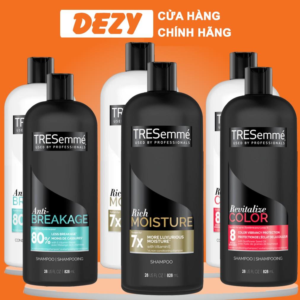 Cặp Dầu Gội Xả Combo Tresemme Mỹ Shampoo Tresemmé Dầu Gội Dưỡng Tóc Ẩm Treseme Chăm Sóc Cho Tóc Nhuộm Ngăn Rụn tóc Dezy