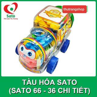 Xếp hình tàu hỏa 36 chi tiết đồ chơi nhựa an toàn SATO