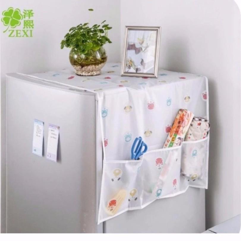 khăn phủ tủ lạnh trong suốt đa năng vrg1167