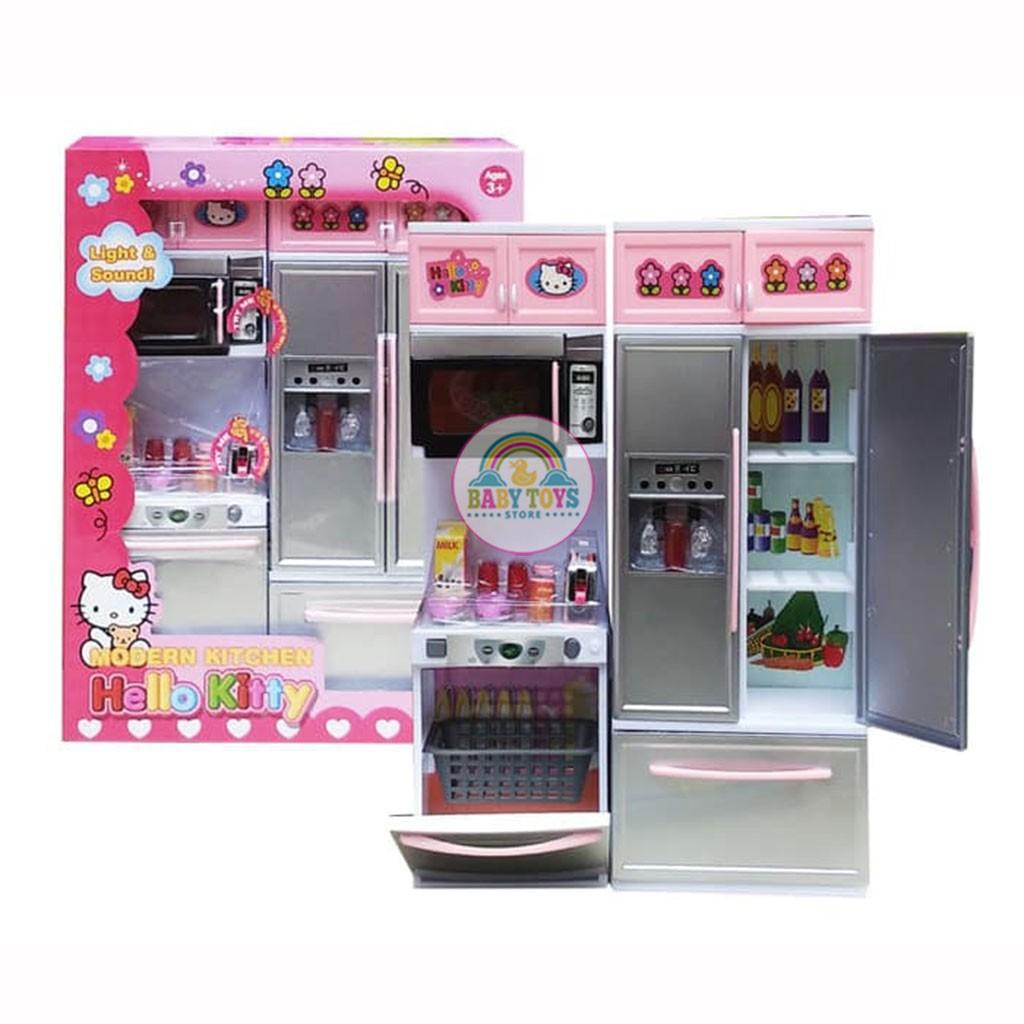 Bộ Đồ Chơi Nhà Bếp Hello Kitty Gồm Loại 2 Khoang, 3 Khoang Cho Bé (Hàng Đẹp, Ảnh Shop Tự Chụp)