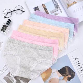 Quần lót bằng cotton phối ren liền mạch gợi cảm cho nữ