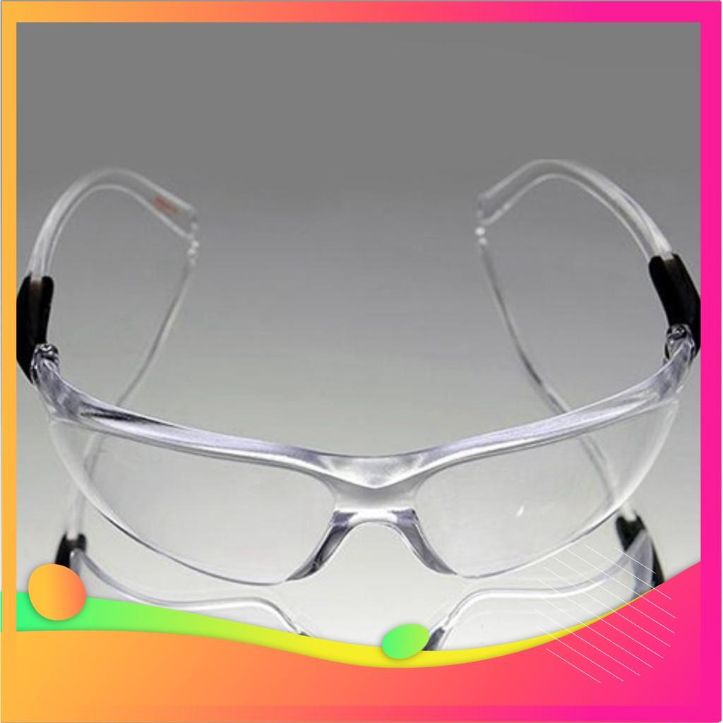 Kính bảo hộ DOUBLE SHILED 004 Tròng Trắng, Đen chắn tia UV chống chói hàng Đài Loan sản xuất