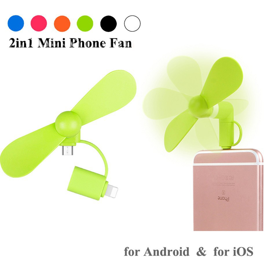 Quạt mini 2in1 micro USB+Lighning dành cho điện thoại 34677 - 2676924 , 1262538557 , 322_1262538557 , 50000 , Quat-mini-2in1-micro-USBLighning-danh-cho-dien-thoai-34677-322_1262538557 , shopee.vn , Quạt mini 2in1 micro USB+Lighning dành cho điện thoại 34677