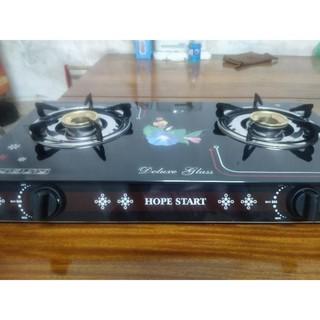 [CHÍNH HÃNG] bếp gas đôi mặt kính HOPE START - HP02
