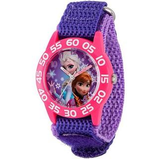 Đồng hồ trẻ em hiệu Disney Frozen Anna & Elsa Girls Plastic Case Watch, Purple Nylon Strap (mặt 32mm, dây 16mm) thumbnail