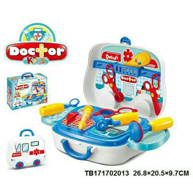 Vali đồ chơi BÁC SĨ nhựa an toàn cho bé (đồ chơi hướng nghiệp)
