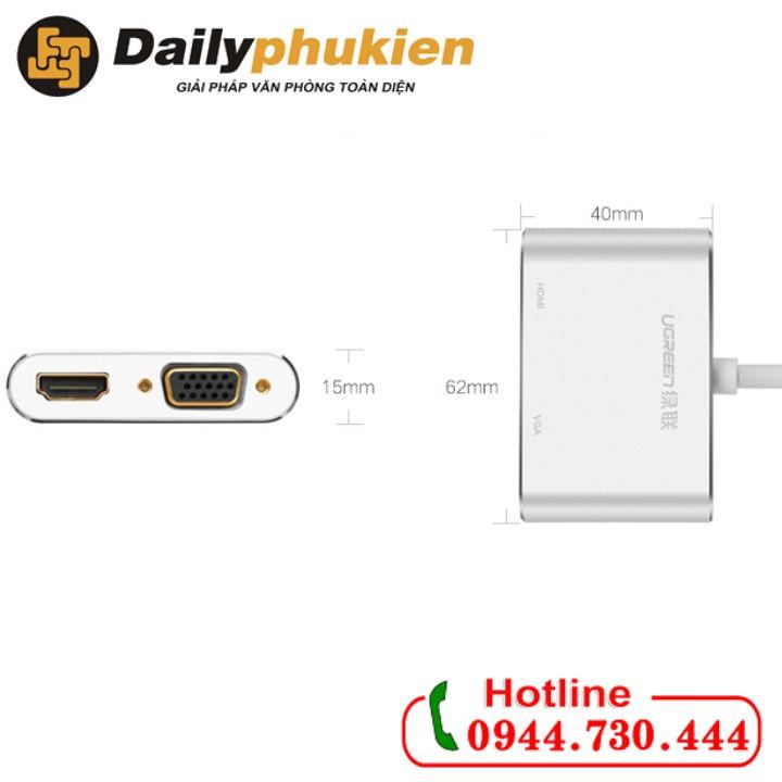 Cáp chuyển USB Type C To HDMI và VGA Ugreen 50317 - 2898750 , 1090192045 , 322_1090192045 , 1050000 , Cap-chuyen-USB-Type-C-To-HDMI-va-VGA-Ugreen-50317-322_1090192045 , shopee.vn , Cáp chuyển USB Type C To HDMI và VGA Ugreen 50317