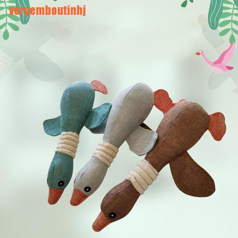 【ver】For Duck Toy Play Funny Pet Puppy Chew Squeaker Squeaky Plush Sound Toys Soft