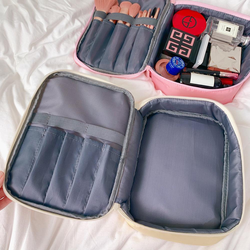 Túi Đeo Chéo Vải Canvas In Hình Gấu Hoạt Hình Kiểu Nhật Hàn Dễ Thương
